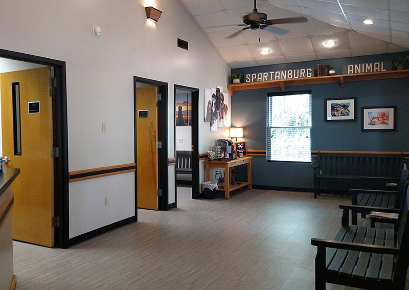Spartanburg Animal Clinic Lobby